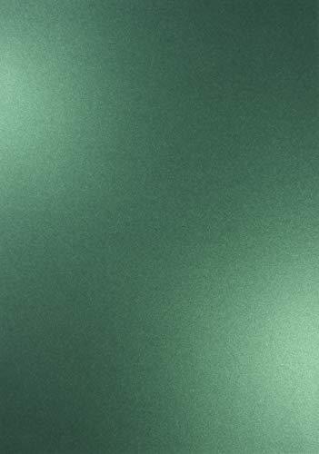 Netuno 10x Blatt Perlmutt-Grün 250g Papier DIN A4 210x297mm Majestic Gardeners Green- ideal für Hochzeit, Geburtstag, Taufe,Weihnachten, Einladungen, Diplome, Visitenkarten, Briefkarten (10 Bogen)