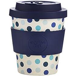 Ecoffee Cup Blue Polka Azul, Blanco Café 1pieza(s) tazón - Taza/Vaso (Solo, 0,25 L, Azul, Blanco, Fibra de bambú, Café, 1 Pieza(s))