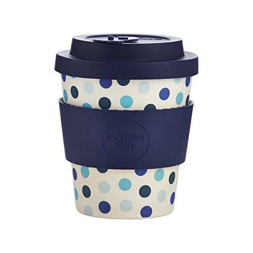 ka Blau, Weiß Kaffee Tasse Tasse/Becher (Kaffee, Solo, 0,25 l, Blau, Weiß, Bambusfaser, 1 Stück ()) ()
