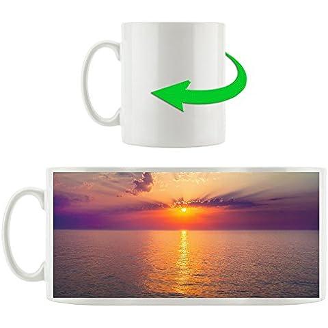 Alba sul Lago di scena tazza in bianco 300ml ceramica, grande idea regalo per ogni occasione. La tua nuova tazza preferita per caffè, tè e bevande calde.