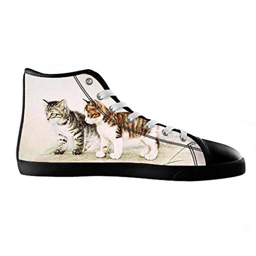 Envío Libre Precio Barato Custom gatti vernice Men s Canvas Shoes Scarpe Lace Up High Top Sneakers a vela panno scarpe Scarpe di tela sneakers d Clásico Las Fechas De Publicación De Descuento A Estrenar Unisex Línea Barata Precio Más Barato En Línea Barato brlzYPY
