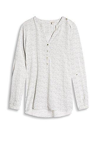 ESPRIT Damen Bluse 996ee1f900 - Gepunktet Mehrfarbig (OFF WHITE 4 113)