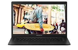 Medion E4253 35,6 cm (14 Zoll Full HD) Notebook (Intel Pentium N5000, 256GB SSD, 8GB DDR4 RAM, Intel HD Grafik 605, Win 10 Home) Schwarz