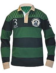 Croker Traditionelle Grün und Marineblau Rugby