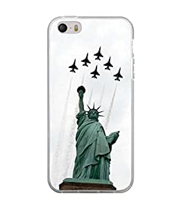 Printvisa Statue of Liberty with Jets Back Case Cover for Apple iPhone 5::Apple iPhone 5S
