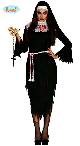 Zombie Nonne für Damen Gr. M/L, (Ideen Nacht Halloween Kostüm)