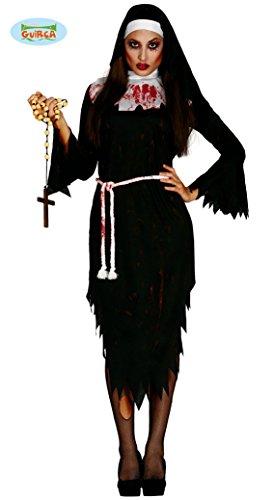 Zombie Nonne für Damen Gr. M/L, (Kostüm Ideen Nonne)