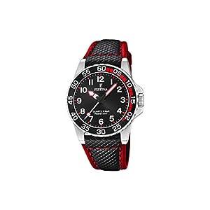 Festina Jungen Analog Quarz Uhr mit Leder Armband F20460/3