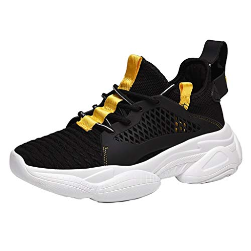 HLIYY Chaussures de Sport Hommes Basket Running Compétition Training Fitness Tennis Athlétique Sneakers Outdoor sans Lacet Sneaker de Basket Mode Chaussure de Course Running Casuel Confort