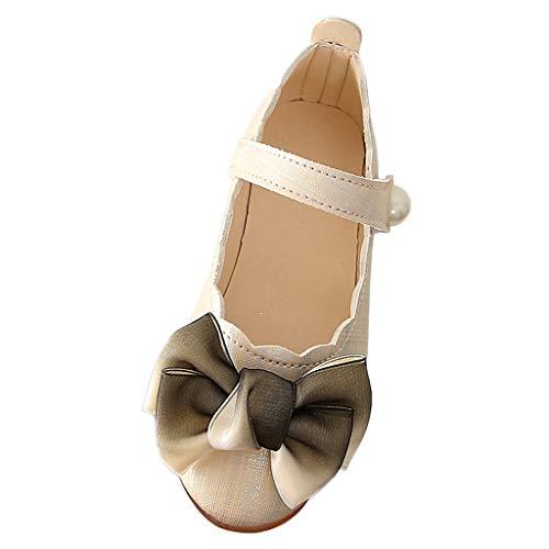 Precioul Babyschuhe, Kleinkind Mädchen hohl Bowknot Sandalen beleuchteten weichen Sohlen Prinzessin Schuhe Farbverlauf Bogen Spitze kleine Schuhe Tanz Prinzessin Schuhe