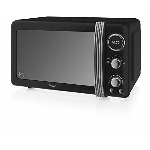41zfsDrV1rL. SS500  - Swan 20 Litre Retro Manual Microwave