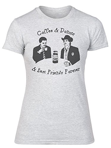 Coffee And Donuts And Best Friends Forever Design Women's T-Shirt Large