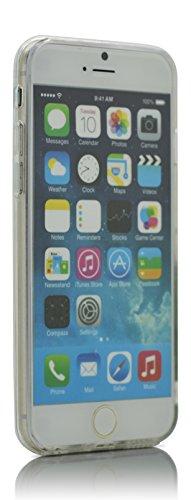 "iProtect TPU Schutzhülle Apple iPhone 6 6s (4,7"") Soft Case - flexible Hülle in transparent Avocado Design Grimassen"