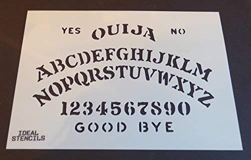 Ouija Board Schablone Halloween Dekorieren Kunst Handwerk Ouija Board Kostüm Malen Schablone - semi-transparent Schablone, S/ 17X26CM (Je Nach Kostüm)