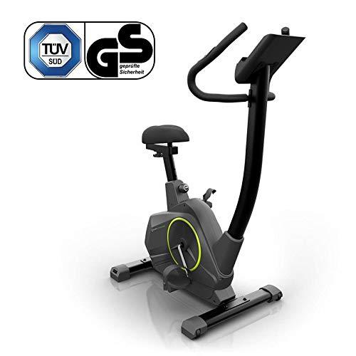 Klarfit Epsylon Cycle Fitnessfahrrad - mit 12 kg Schwungmasse ideal als Heimtrainer, geräuscharm, Fit Edition, schwarz