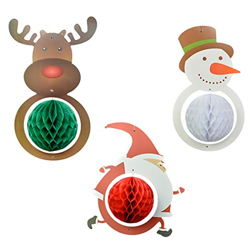 Joyibay 3PCS Weihnachten Hängende Verzierung Sortierte Hängende Dekoration Decken Dekoration (Decken-dekorationen Weihnachten Hängende)