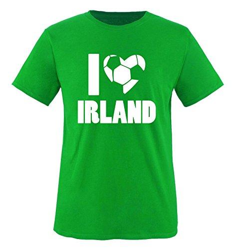 I Love Irland - Herren T-Shirt - Grün/Weiss Gr. XXL -