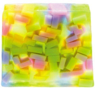 Bomb Cosmetics Seife 100g Confetti Showers verpackt oder frisch vom Block geschnitten - Flower Soap Bar Seife