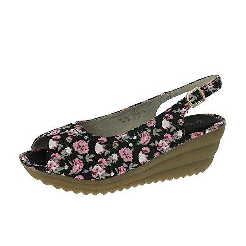 Noir De Sandales De Clematis Heavenly Feet Floral Floral Noir