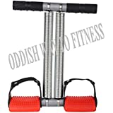 ODDISH® Premium Quality Double Spring Tummy Trimmer Pro Upgrade as customer Demand Home Gym Abdomen Leg Exerciser Home Gym Arm Waist Sport Fitness Stretching Slimming Training for men and women (Red & Black)