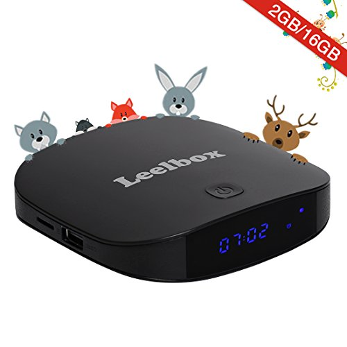 Leelbox Q2 Pro Android 7.1 TV Box Smart TV Box de 2GB RAM+16GB ROM con BT 4.0, Soporta 4K (60HZ)/2.4G y 5.8G Dual-WIFI/3D/4K/HD/H.265