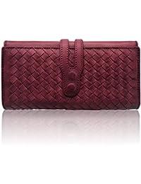 895f20bfe4 LETEULO Portafogli da donna in vera pelle fatti a mano signore borsa  titolare carta da lavoro