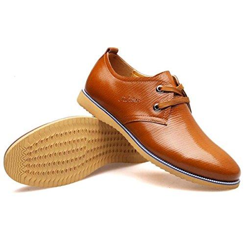 Autunno Versione Coreana Inghilterra Uomini Scarpe Casual Scarpe Moda Scarpe Da Uomo Scarpe Di Pizzo Yellow