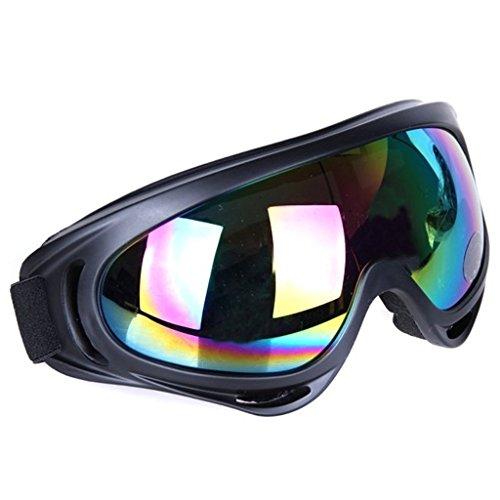 Vicloon Masques Lunettes de Ski, Lunettes Equitation Coupe-Vent, Lunettes de Moto, UV Protection, Sport d'hiver Adultes Homme Femm