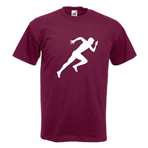 KIWISTAR - Läufer Marathon Sprint T-Shirt in 15 verschiedenen Farben - Herren Funshirt bedruckt Design Sprüche Spruch Motive Oberteil Baumwolle Print Größe S M L XL XXL Burgund