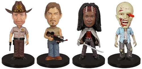 Preisvergleich Produktbild FunKo 018515 The Walking Dead: Mini Wacky Wobbler Bobble-Head Box Inc. Rick, Daryl, Michonne, Walker, 4 Stück