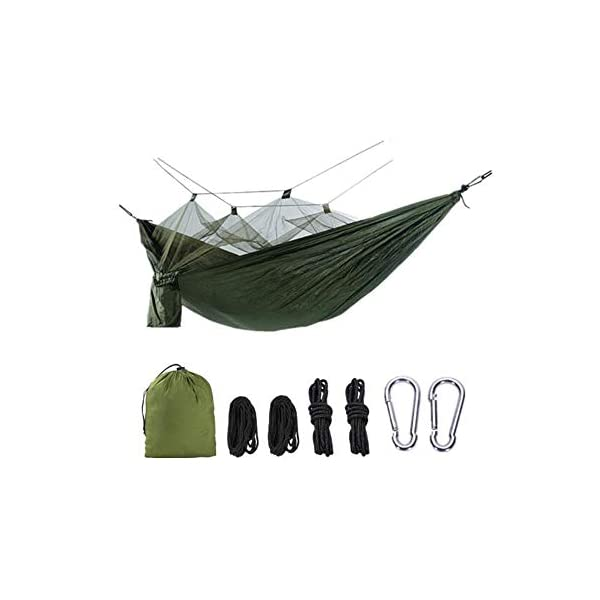 MALY Outdoor Camping Thickened Anti-Mosquito Hammock Outdoor Leisure Double Camping Tent Swing  Encrypted mosquito net design, soft and encrypted net yarn, firm and fine anti-ant pest control, no need to worry about mosquito infestation. Ultra-lightweight design, portable and load-bearing, light and breathable, easy to carry. With high-quality zipper design, it lasts for a long time and is not easy to break. 1