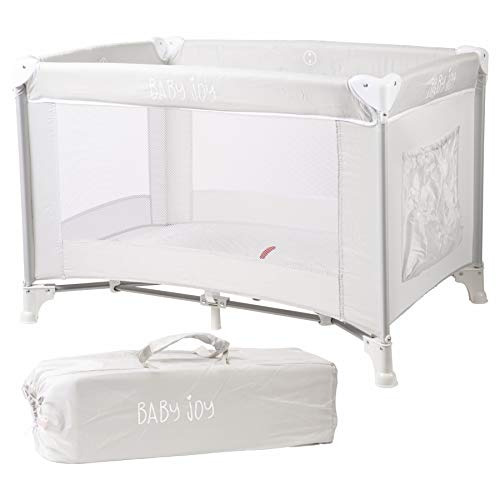 Baby Joy Tragbare Falten Kind Baby Reise Kinderbett Kinderbett Laufstall für Kinder (Grau) (Reise Bett-schiene Baby Für)