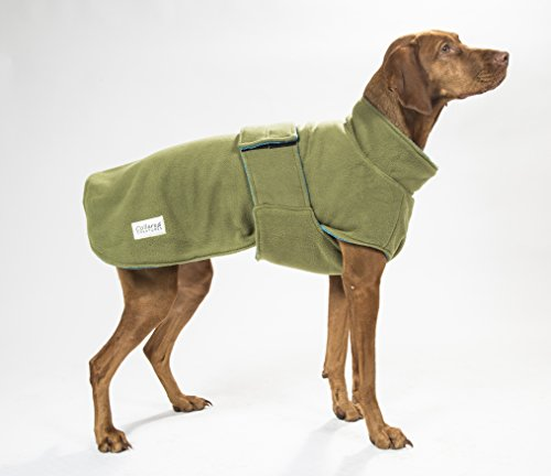 Collared Creatures Dog Drying Coat, Towling-Microfiber Lined Fleece Jacket Geen (available sizes XS, S, M, L, XL, XXL… 1