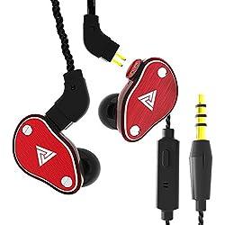 QKZ VK6 4DD Basse Hybride Écouteurs HiFi DJ Monito Courir Sport Écouteur Fil Plugable par Anliyou