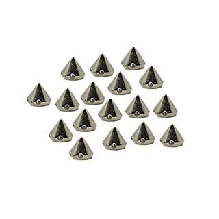 EIMASS CCB Acrylnieten Spikes Konus Form zum Nähen Kleben Stecken DIY Stoffe Taschen & Schuhe verziern - 8mm, Silber Spike Konus Nieten