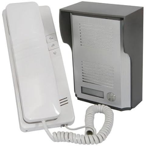 Wired puerta entrada teléfono receptor sistema 100M gama: seguridad de comunicación de–al aire