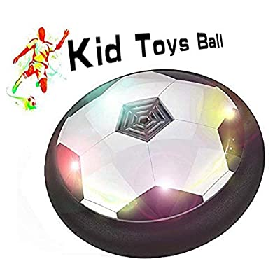 FJBMW Kids Toys Air Power Soccer Ball X-001 Games with Soft Foam Bumpers and Colorful LED Lights