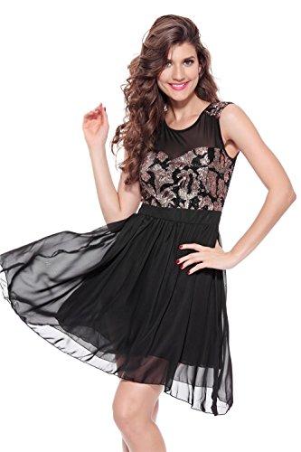HYHAN Frau sexy Kostüm Kleid Europa , black , xl