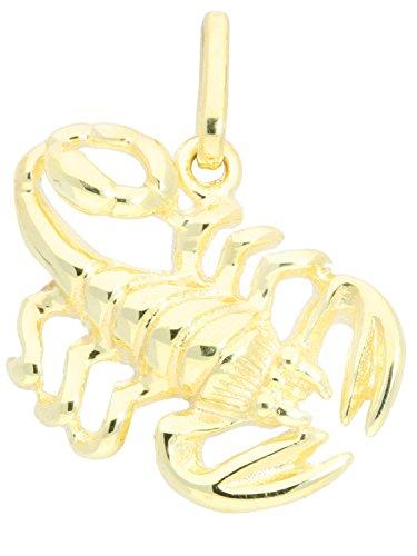 MyGold Sternzeichen Anhänger Skorpion (Ohne Kette) Gelbgold 333 Gold (8 Karat) Massiv Glanz ca. 19mm x 18mm Goldanhänger Kettenanhänger Geschenk Geschenkidee Zodiac Basic A-05976-G301-Sko