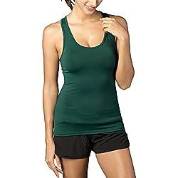 LAPASA Deportiva sin Mangas, para Running, Yoga y Entrenamiento para Mujer (Verde)