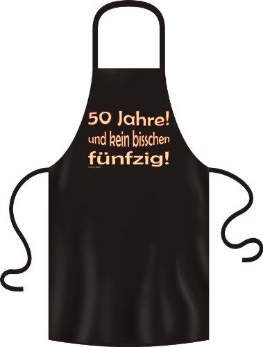 Anniversaire 50 ans Pour junggebliebene – Tablier de barbecue en noir 50 ans et pas peu vieille – Unisexe Tablier 100% coton :)