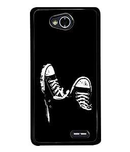 PrintVisa Designer Back Case Cover for LG L70 :: LG L70 Dual (Classy Design Of Sneakers In Black)