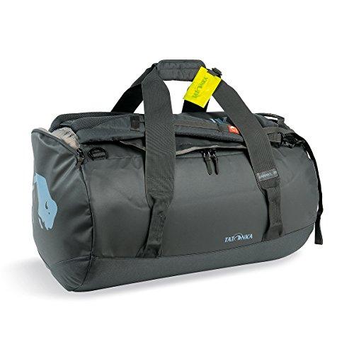 Tatonka Barrel M Reisetasche - 65 Liter - wasserfeste Tasche aus LKW-Plane mit Rucksackfunktion und großer Reißverschluss-Öffnung - Rucksacktasche - unisex - grau -