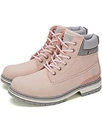 Botines Planos de Spring para Mujer - AnjouFemme Zapatos con Cordones para Mujer, Botas Impermeables