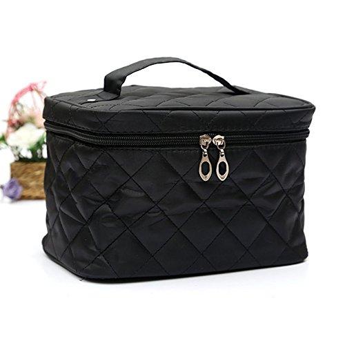Hrph Neue Kosmetische Box Weibliche gesteppte professionellen Kosmetik-Beutel-Frauen Storage Handtasche Travel Kulturbeutel (Gesteppte Handtasche Neue)