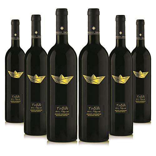 Voyage du Vin (6x 750ml) Bio edel Weißwein trocken | Sortenrein Muscat d'Alexandrie | Aus kontrolliert biologischem Landbau auf vulkanischem Boden | Premium Qualität