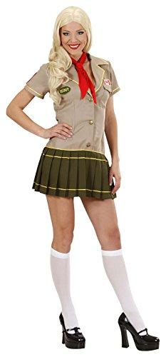 Widmann 2068-Scout Girl, rot/schwarz, Größe XL