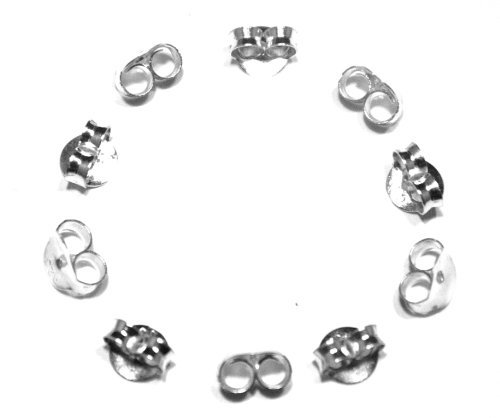 Arranview Jewellery Lot de 5paires de fermoirs de boucles d'oreilles papillonArgent 925 Taille moyenne Environ 5mm