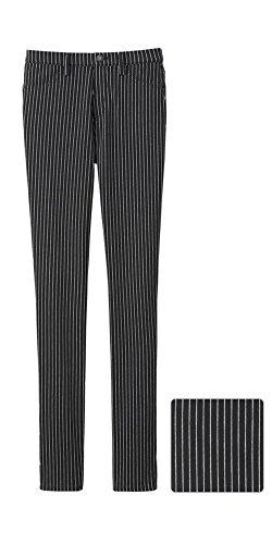 5e5c83b8ab0ed4 Uniqlo Pinstripe Leggings / Treggings / Stretch Slim Fit Trousers, Black &  White, Size XL (UK 16)