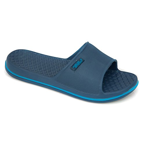AQUA-SPEED - Badelatschen Für Erwachsene Und Kinder -Schwimmbadschuhe - Anti-Rutsch-Sohle - Sehr Leicht - #AS Cordoba navyblau/blau